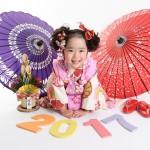 大阪の七五三写真撮影スタジオ・ハニーアンドクランチの3歳女の子和装のフォトギャラリーA194