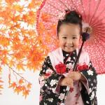 大阪の七五三写真撮影スタジオ・ハニーアンドクランチの3歳女の子和装のフォトギャラリーA196