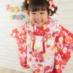 大阪の七五三写真撮影スタジオ・ハニーアンドクランチの3歳女の子和装のフォトギャラリーA197
