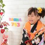 大阪の七五三写真撮影スタジオ・ハニーアンドクランチの3歳女の子和装のフォトギャラリーA200