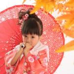 大阪の七五三写真撮影スタジオ・ハニーアンドクランチの3歳女の子和装のフォトギャラリーA201