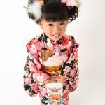 大阪の七五三写真撮影スタジオ・ハニーアンドクランチの3歳女の子和装のフォトギャラリーA205