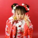 大阪の七五三写真撮影スタジオ・ハニーアンドクランチの3歳女の子和装のフォトギャラリーA206
