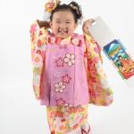 大阪の七五三写真撮影スタジオ・ハニーアンドクランチの3歳女の子和装のフォトギャラリーA207