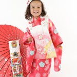 大阪の七五三写真撮影スタジオ・ハニーアンドクランチの3歳女の子和装のフォトギャラリーA208