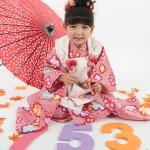 大阪の七五三写真撮影スタジオ・ハニーアンドクランチの3歳女の子和装のフォトギャラリーA210