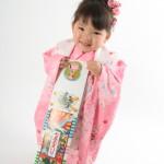 大阪の七五三写真撮影スタジオ・ハニーアンドクランチの3歳女の子和装のフォトギャラリーA211