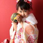 大阪の七五三写真撮影スタジオ・ハニーアンドクランチの3歳女の子和装のフォトギャラリーA213