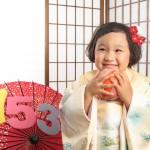 大阪の七五三写真撮影スタジオ・ハニーアンドクランチの3歳女の子和装のフォトギャラリーA214