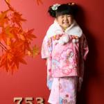 大阪の七五三写真撮影スタジオ・ハニーアンドクランチの3歳女の子和装のフォトギャラリーA218