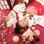 大阪の七五三写真撮影スタジオ・ハニーアンドクランチの3歳女の子和装のフォトギャラリーA219