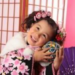 大阪の七五三写真撮影スタジオ・ハニーアンドクランチの3歳女の子和装のフォトギャラリーA223