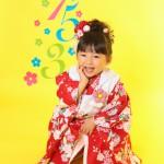 大阪の七五三写真撮影スタジオ・ハニーアンドクランチの3歳女の子和装のフォトギャラリーA224