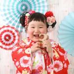 大阪の七五三写真撮影スタジオ・ハニーアンドクランチの3歳女の子和装のフォトギャラリーA226