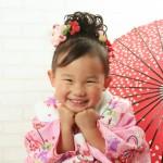 大阪の七五三写真撮影スタジオ・ハニーアンドクランチの3歳女の子和装のフォトギャラリーA227