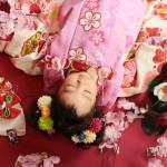 大阪の七五三写真撮影スタジオ・ハニーアンドクランチの3歳女の子和装のフォトギャラリーA228