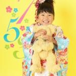 大阪の七五三写真撮影スタジオ・ハニーアンドクランチの3歳女の子和装のフォトギャラリーA233