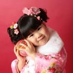 大阪の七五三写真撮影スタジオ・ハニーアンドクランチの3歳女の子和装のフォトギャラリーA238