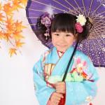 大阪の七五三写真撮影スタジオ・ハニーアンドクランチの7歳女の子和装のフォトギャラリーB002