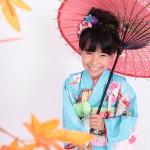 大阪の七五三写真撮影スタジオ・ハニーアンドクランチの7歳女の子和装のフォトギャラリーB006