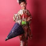 大阪の七五三写真撮影スタジオ・ハニーアンドクランチの7歳女の子和装のフォトギャラリーB008