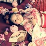 大阪の七五三写真撮影スタジオ・ハニーアンドクランチの7歳女の子和装のフォトギャラリーB009
