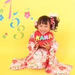 大阪の七五三写真撮影スタジオ・ハニーアンドクランチの7歳女の子和装のフォトギャラリーB015