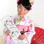 大阪の七五三写真撮影スタジオ・ハニーアンドクランチの7歳女の子和装のフォトギャラリーB021