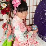 大阪の七五三写真撮影スタジオ・ハニーアンドクランチの7歳女の子和装のフォトギャラリーB022