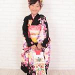 大阪の七五三写真撮影スタジオ・ハニーアンドクランチの7歳女の子和装のフォトギャラリーB026