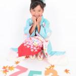 大阪の七五三写真撮影スタジオ・ハニーアンドクランチの7歳女の子和装のフォトギャラリーB030