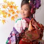大阪の七五三写真撮影スタジオ・ハニーアンドクランチの7歳女の子和装のフォトギャラリーB031