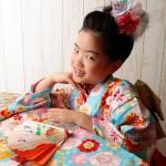 大阪の七五三写真撮影スタジオ・ハニーアンドクランチの7歳女の子和装のフォトギャラリーB034