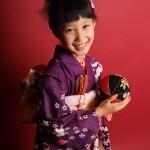 大阪の七五三写真撮影スタジオ・ハニーアンドクランチの7歳女の子和装のフォトギャラリーB035