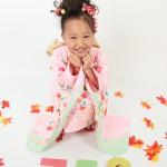 大阪の七五三写真撮影スタジオ・ハニーアンドクランチの7歳女の子和装のフォトギャラリーB045