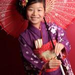 大阪の七五三写真撮影スタジオ・ハニーアンドクランチの7歳女の子和装のフォトギャラリーB050