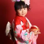 大阪の七五三写真撮影スタジオ・ハニーアンドクランチの7歳女の子和装のフォトギャラリーB055
