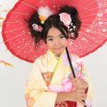 大阪の七五三写真撮影スタジオ・ハニーアンドクランチの7歳女の子和装のフォトギャラリーB065