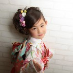 大阪の七五三写真撮影スタジオ・ハニーアンドクランチの7歳女の子和装のフォトギャラリーB068