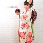 大阪の七五三写真撮影スタジオ・ハニーアンドクランチの7歳女の子和装のフォトギャラリーB071