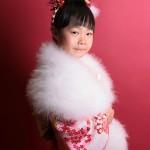 大阪の七五三写真撮影スタジオ・ハニーアンドクランチの7歳女の子和装のフォトギャラリーB080