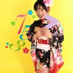 大阪の七五三写真撮影スタジオ・ハニーアンドクランチの7歳女の子和装のフォトギャラリーB083
