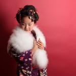 大阪の七五三写真撮影スタジオ・ハニーアンドクランチの7歳女の子和装のフォトギャラリーB090
