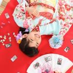 大阪の七五三写真撮影スタジオ・ハニーアンドクランチの7歳女の子和装のフォトギャラリーB106