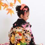 大阪の七五三写真撮影スタジオ・ハニーアンドクランチの7歳女の子和装のフォトギャラリーB109