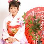 大阪の七五三写真撮影スタジオ・ハニーアンドクランチの7歳女の子和装のフォトギャラリーB110