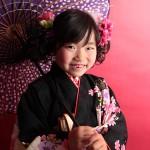 大阪の七五三写真撮影スタジオ・ハニーアンドクランチの7歳女の子和装のフォトギャラリーB115