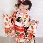 大阪の七五三写真撮影スタジオ・ハニーアンドクランチの7歳女の子和装のフォトギャラリーB131