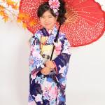 大阪の七五三写真撮影スタジオ・ハニーアンドクランチの7歳女の子和装のフォトギャラリーB145