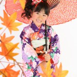 大阪の七五三写真撮影スタジオ・ハニーアンドクランチの7歳女の子和装のフォトギャラリーB152